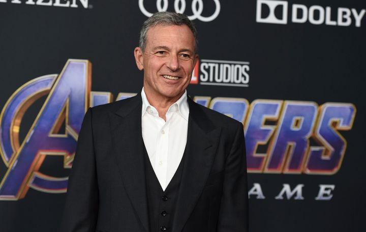 """Disney CEO Bob Iger arrives at the premiere of """"Avengers: Endgame"""" at the Los Angeles Convention Center on April 22, 2019."""