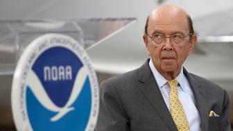 ARLINGTON, VIRGINIA - MAY 23:  U.S. Secretary of Commerce Wilbur Ross waits to speak at the National Oceanic and Atmospheric Administration's 2019 Hurricane Season Outlook press conference May 23, 2019 in Arlington, Virginia. NOAA forecasters predicted between nine and 15 named storms are expected this season with four to eight of those becoming hurricanes. Two to four of the hurricanes could reach major status, meaning a Category 3 storm or higher. (Photo by Win McNamee/Getty Images)