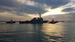 «Κρύψτε το...πλοίο»: Ο Λευκός Οίκος ζήτησε να μη φαίνεται το πλοίο «USS John S. McCain» σε ομιλία του Τραμπ στην