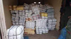 Saisie de 7 tonnes de sacs en plastique au poste douanier de