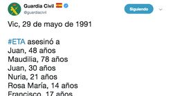 Críticas a la Guardia Civil por cómo ha recordado a las víctimas de este atentado de ETA en