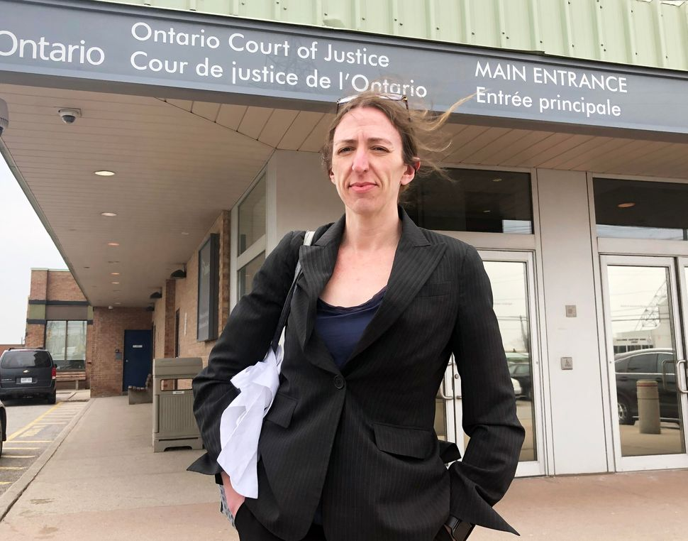 Criminal defence lawyer Alison Craig stands outside a Toronto courthouse in between cases. She represents...