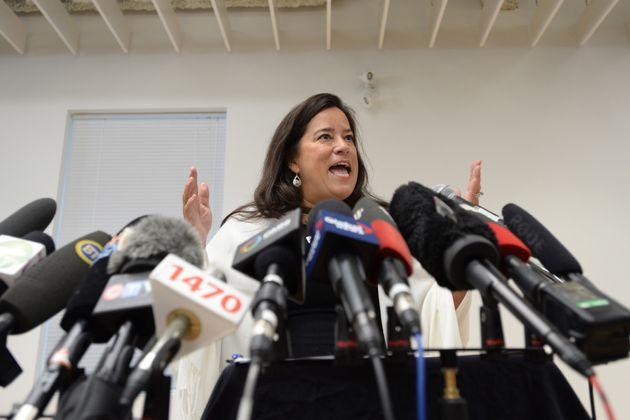 JodyWilson-Raybouldholds a news conference to discuss her political future in Vancouver on...