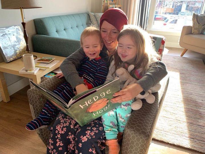 Michelle avec ses deux enfants