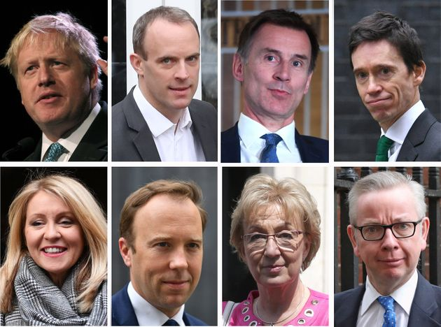 Contenders in the Tory leadership