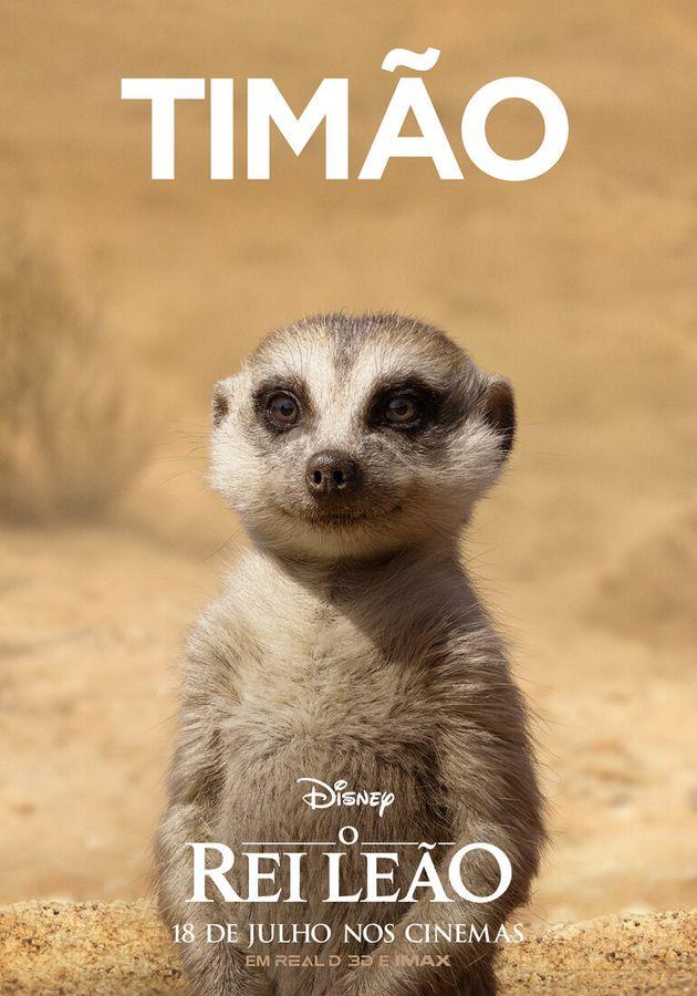 'O Rei Leão': Timão e Pumba estão entre as estrelas dos novos cartazes do