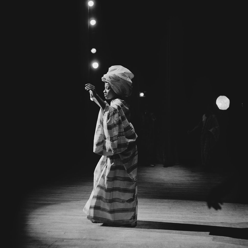 "Grandassa Model onstage, Apollo Theater, Harlem, circa 1968. From ""Kwame Brathwaite: Black Is Beautiful"" (Aperture, 2019)."