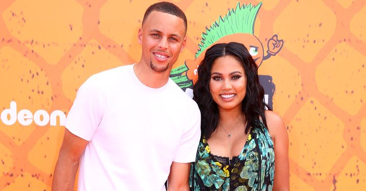 Steph and Ayesha Curry at the Nickelodeon Kids' Choice Sports Awards on July 14, 2016.