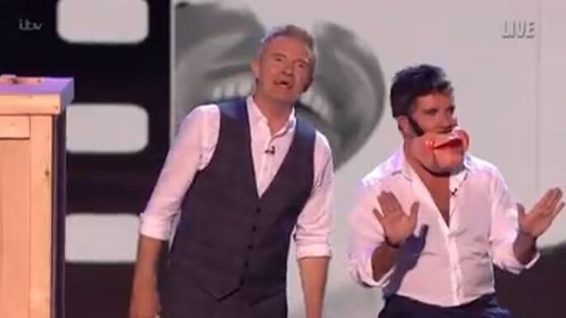 Simon Cowell was being used as a ventriloquist's