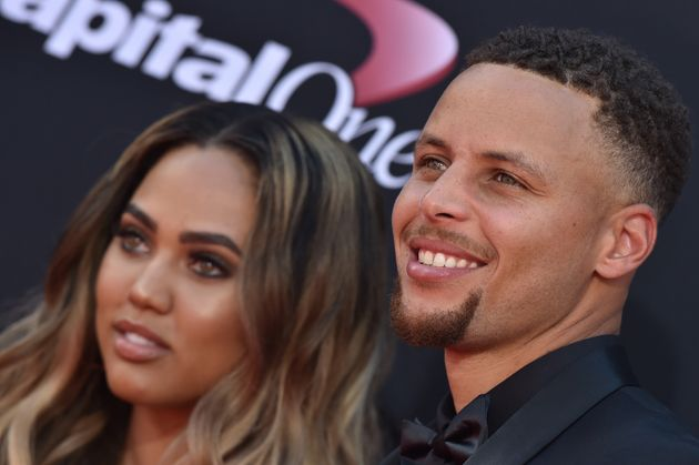 Ayesha and Steph Curry arrive at the 2017 ESPYS at Microsoft Theater on July 12, 2017 in Los