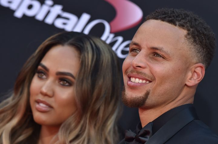 Ayesha and Steph Curry arrive at the 2017 ESPYS at Microsoft Theater on July 12, 2017 in Los Angeles.