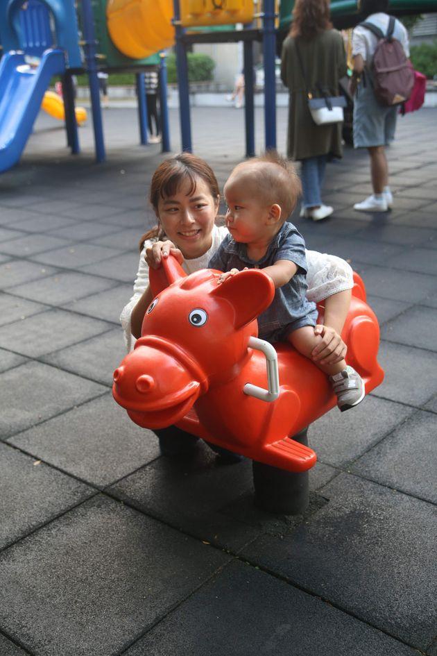 田中伶さんと息子さん
