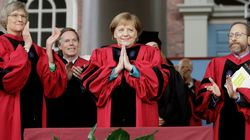 Angela Merkel Tells Harvard Grads To 'Tear Down Walls Of Ignorance' in Trump