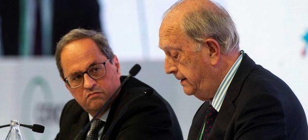 Los empresarios catalanes sostienen ante Torra que la pérdida de poder económico