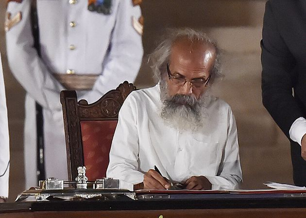Pratap Chandra Sarangi during the oath-taking ceremony at the Rashtrapati Bhavan in New