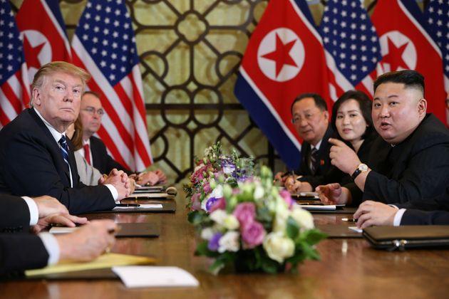 Donald Trump y Kim Jong-un, durante su encuentro en