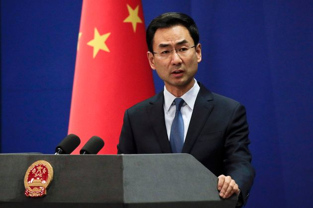 China's foreign ministry spokesman Geng Shuang, seen here in Beijing on Jan. 29, 2019, is urging the Canadian government to