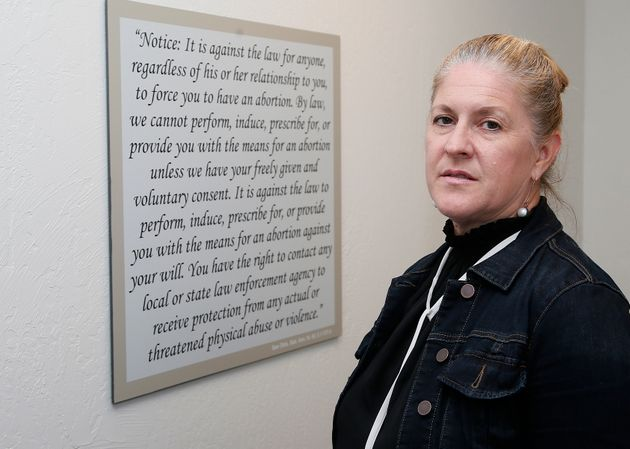 Julie Burkhart stands in a consultation room at the Trust Women South Wind Women's Center in Oklahoma...