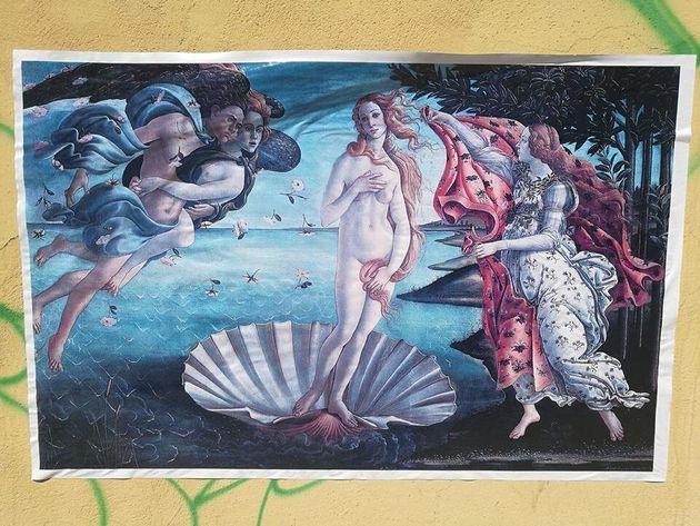 Caravaggio e Van Gogh contro le svastiche. Questa volta sono i manifesti che