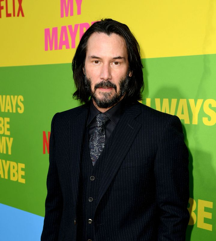 """Reeves arrives at the premiere of Netflix's """"Always Be My Maybe"""" on May 22 in Westwood, California."""
