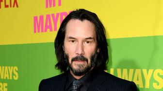 "WESTWOOD, CALIFORNIA - MAY 22: Keanu Reeves arrives at the premiere of Netflix's ""Always Be My Maybe"" at the Regency Village Theatre on May 22, 2019 in Westwood, California. (Photo by Kevin Winter/Getty Images)"