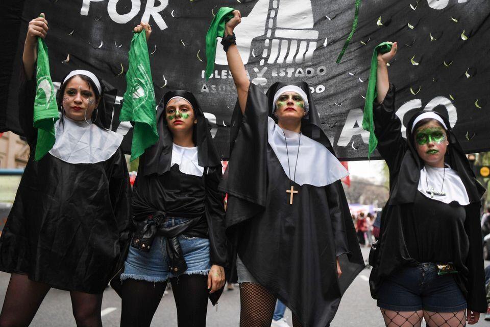 Manifestación en Argentina por el derecho al