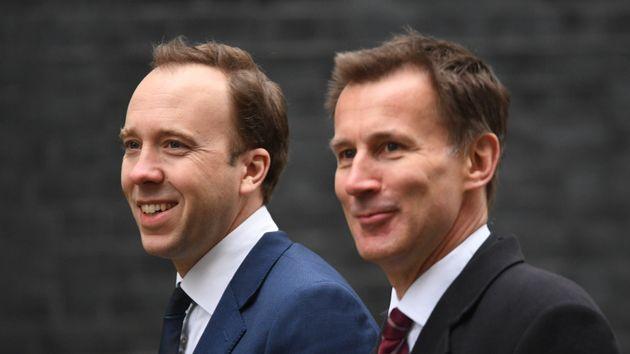 Health secretary Matt Hancock (left) with former health secretary and now foreign secretary Jeremy