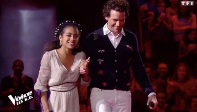 La protégée de Mika, qualifiée pour les demi-finales, a été sauvée à deux reprises par le public.