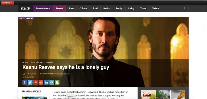That Keanu Reeves 'Lonely Guy' Interview Never Happened, Rep Says