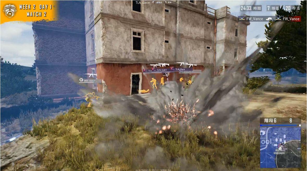 ▲MSF和TLN玩了場手榴彈大戰