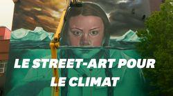 Greta Thunberg mise à l'honneur dans une impressionnante peinture murale à