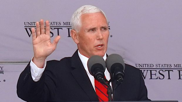 U.S. Vice President Mike Pence attends the U.S. Military Academy Class of 2019 graduation ceremony at Michie Stadium on May 25, 2019 in West Point, New York.  (Photo by  Selcuk Acar/NurPhoto via Getty Images)