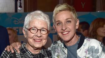 HOLLYWOOD, CA - JUNE 08: Betty DeGeneres (L) and actress Ellen DeGeneres attend The World Premiere of Disney-Pixar's FINDING DORY on Wednesday, June 8, 2016 in Hollywood, California.  (Photo by Alberto E. Rodriguez/Getty Images for Disney)