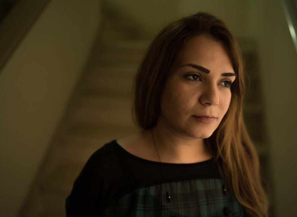 A síria Rama, de 33 anos,era professora de história e geografia em uma escola em...