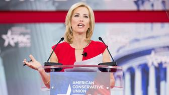 OXON HILL, MD, UNITED STATES - 2018/02/23: Laura Ingraham, American radio host, at the Conservative Political Action Conference (CPAC) sponsored by the American Conservative Union held at the Gaylord National Resort & Convention Center in Oxon Hill. (Photo by Michael Brochstein/SOPA Images/LightRocket via Getty Images)