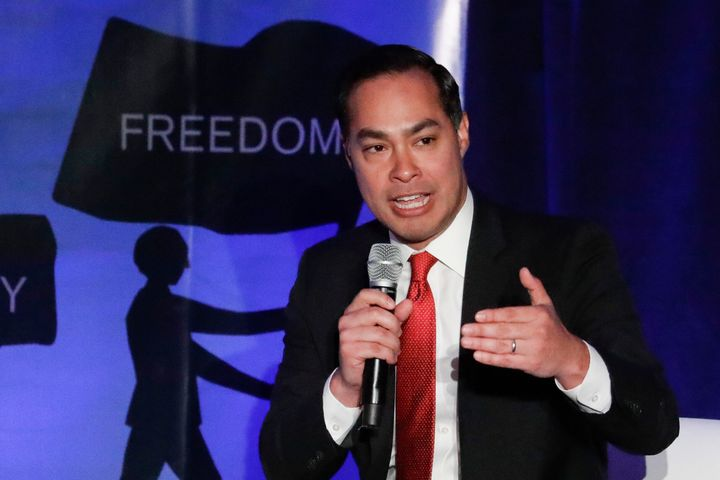 Democratic presidential candidate Julián Castro speaks at an immigration forum in the Los Angeles area on Friday.