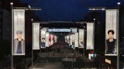 BTS를 맞이하는 웸블리 스타디움과 런던의 풍경을