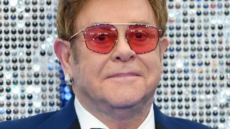 """LONDON, ENGLAND - MAY 20: Elton John attends the """"Rocketman"""" UK premiere at Odeon Luxe Leicester Square on May 20, 2019 in London, England. (Photo by Karwai Tang/WireImage)"""