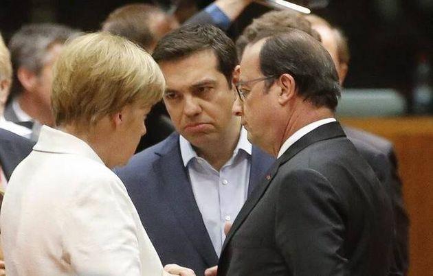 Tsipras entre Merkel y