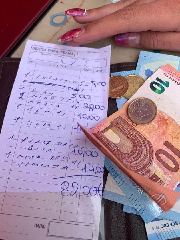 Ρόδος: Πλήρωσαν 82 ευρώ για 8 αναψυκτικά - Η νέα viral