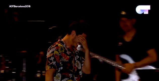 Miki rompe a llorar en el concierto de 'OT 2018' en el Palau Sant Jordi de