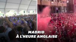 Les supporters de Liverpool et Tottenham transforment les rues de Madrid en stade