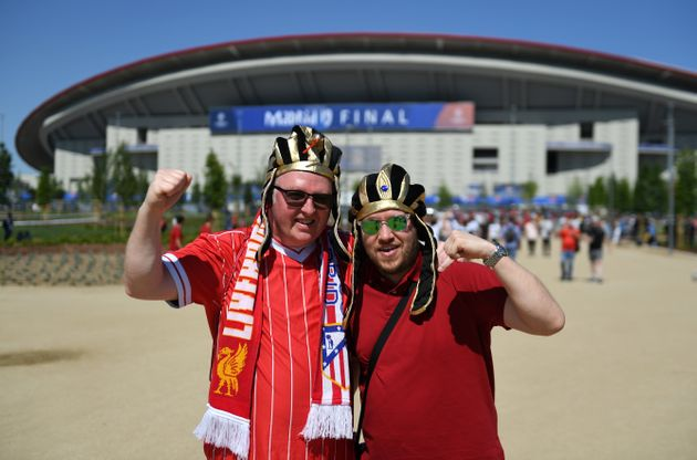 Liverpool fans before the UEFA Champions League Final at the Wanda Metropolitano,