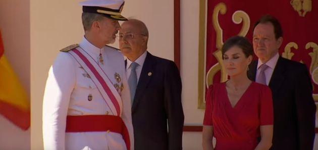 El enfado del rey Felipe en el desfile de las Fuerzas