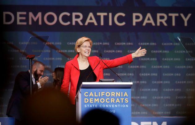 Sen. Elizabeth Warren (D-Mass.) used a Saturday speech at the California Democratic convention to take...