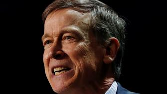 Democratic presidential candidate and former Colorado governor John Hickenlooper speaks during the California Democratic Convention in San Francisco, California, U.S. June 1, 2019. REUTERS/Stephen Lam