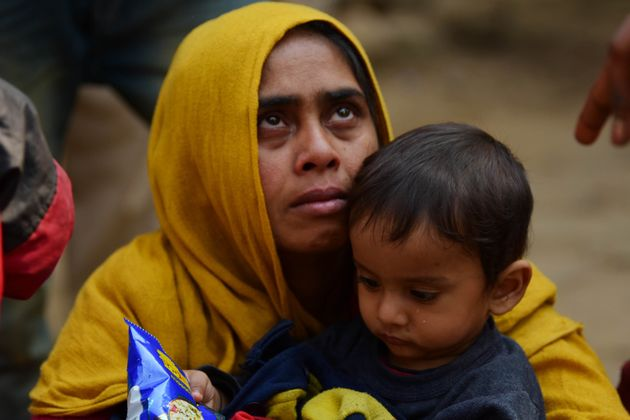 AGARTALA, India - FEBRUARY 17: Rohingya persons held at Amtali Police Station after they were arrested...