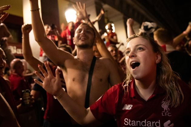 Crowds filled the streets of Madrid to celebrate the Reds' win over