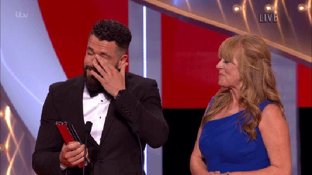 Shayne Ward was emotional at the British Soap