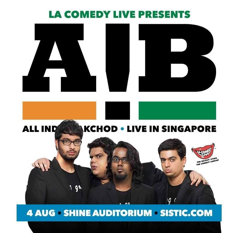 A poster announcing AIB's international